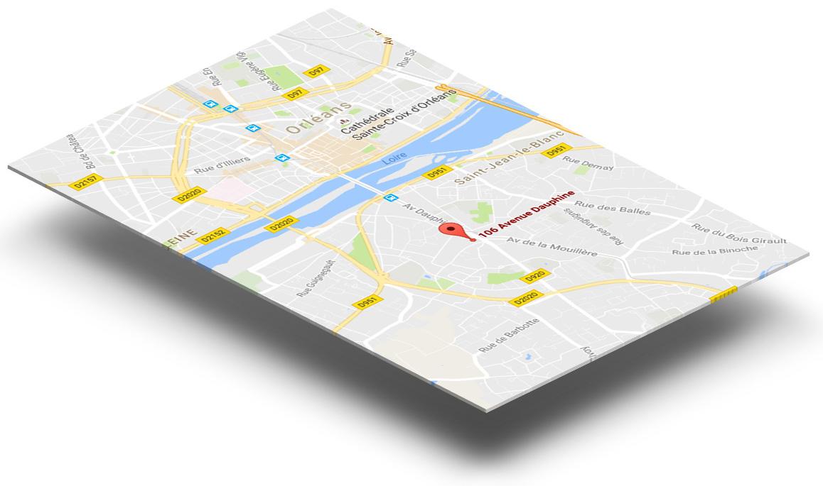 Carte de Orléans sud