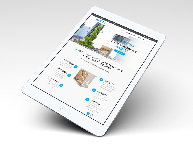 Site e-commerce sur ipad