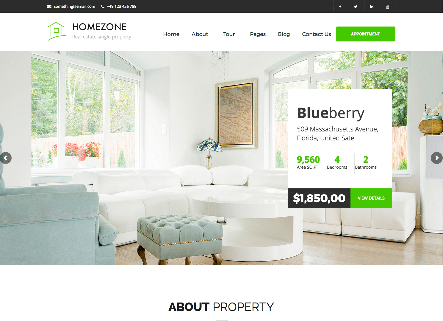 Site de coach immobilier Home Zone sous wordpress