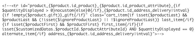 code php prestashop corrigé