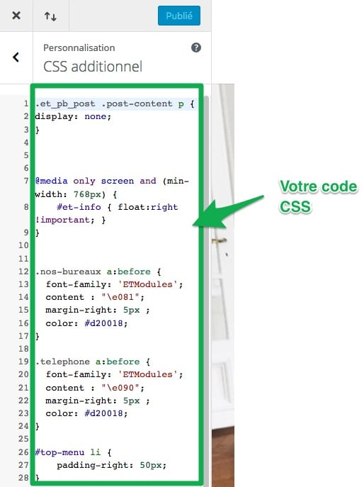 Personnalisez votre CSS