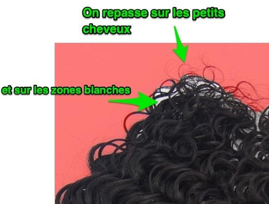 détourage de cheveux