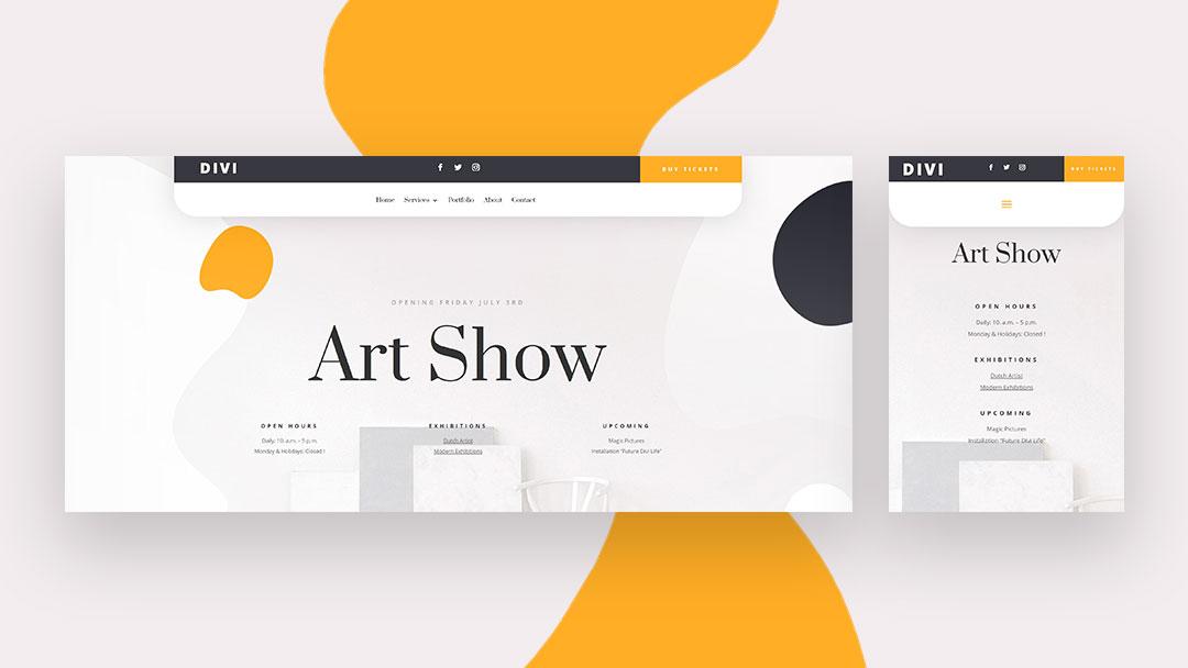 artshow header Divi