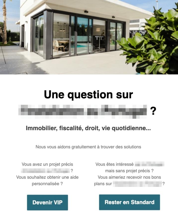 email avec choix et sondage
